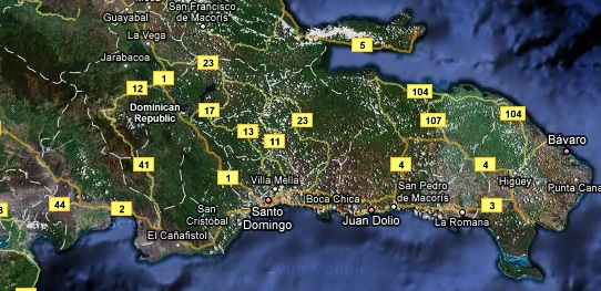 google-map-of-the-dominican-republic