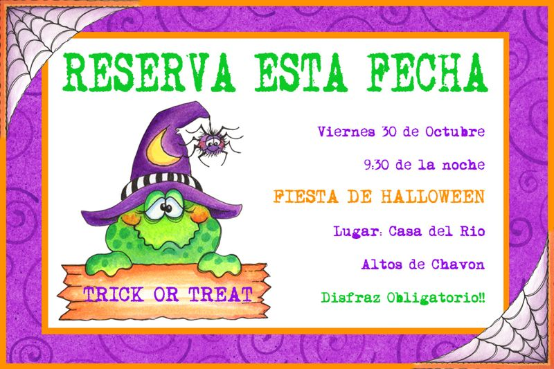 halloween reserve the date