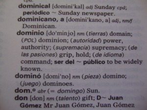 dominican - enlgish dictionary