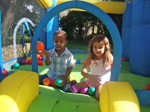 Casa de Campo Living's Easter Egg Hunt in Altos de Chavon - bouncy castle