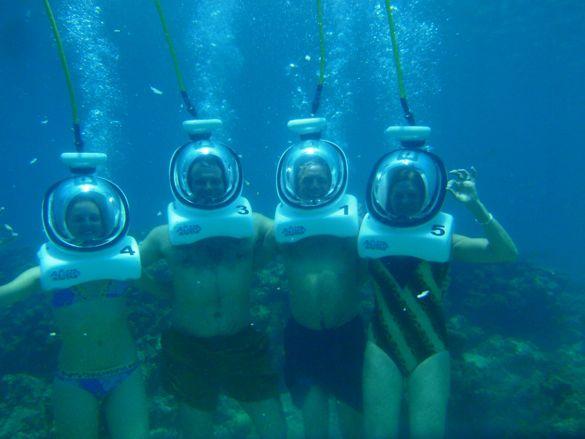 aquanautas, helmet diving, bayahibe, casa de campo living