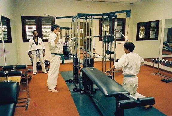 casa de campo - weights room