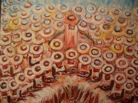 exhibition jean girigori, altos de cahvon art gallery, casa de campo living