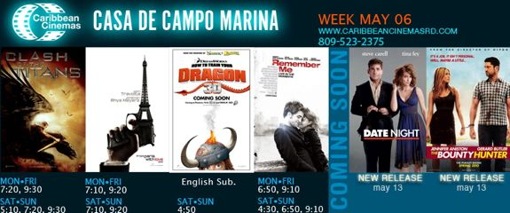 Marina Casa de Campo, carribean cinemas movie times