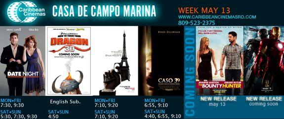 marina casa de campo - caribbean cinemas, movie times