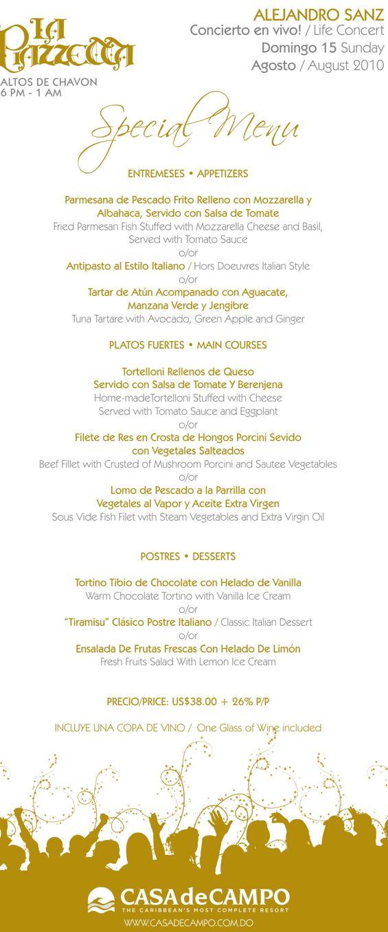 menu alejandro sanz