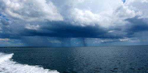 rain caribbean sea