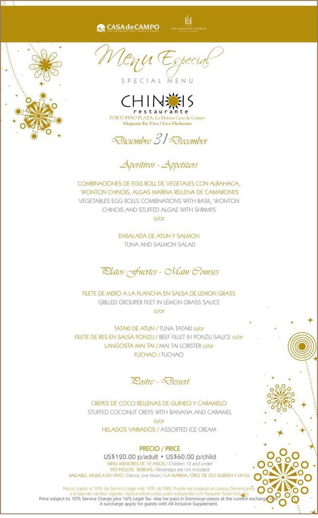 chinois new years eve menu