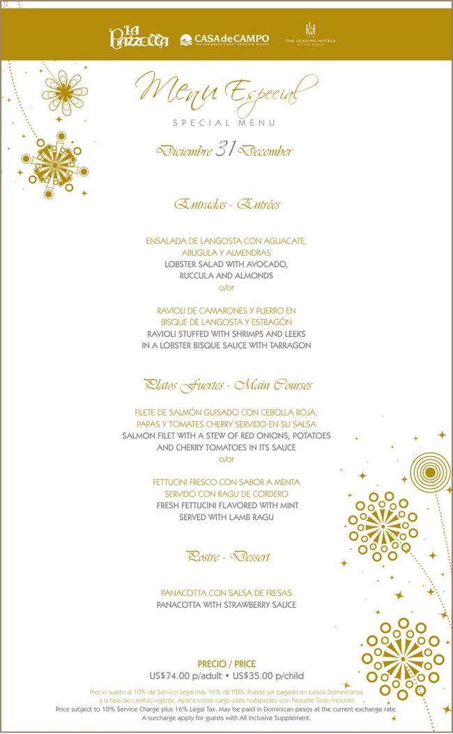 la piazzetta new years eve menu