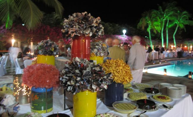 recycled theme dinner