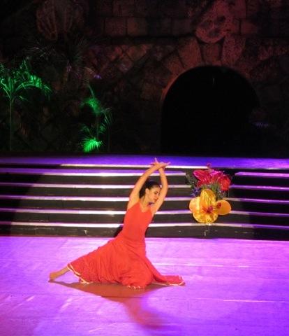 dancing flamenco