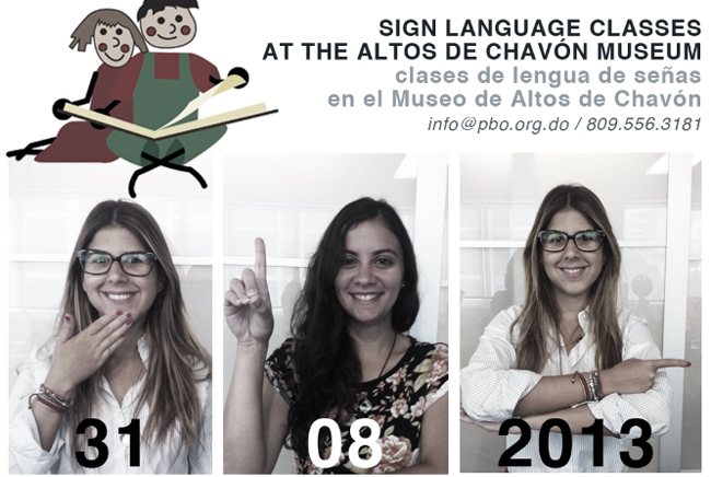 sign language classes with the hogar de nino at the Altos de Chavón Regional Museum of Archeology