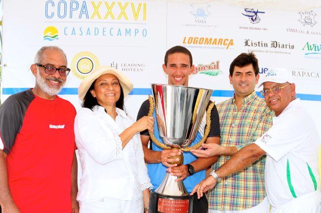 Casa de Campo Tennis Tournament champion Andres Bernal