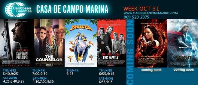 Marina Casa de Campo new movies and times