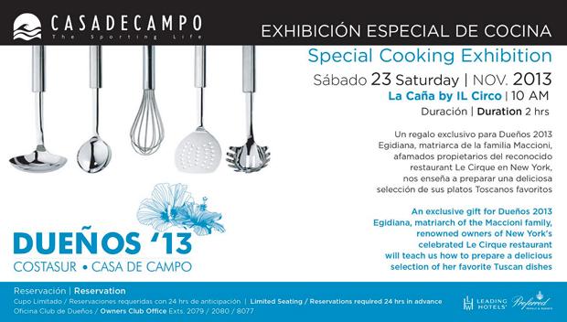 Cooking Class Dueños 2013 Casa de Campo