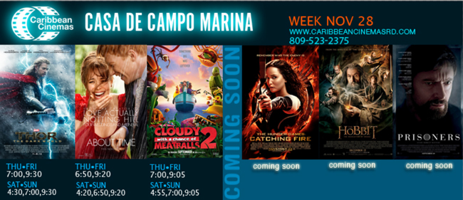 Marina Casa de Campo movie times