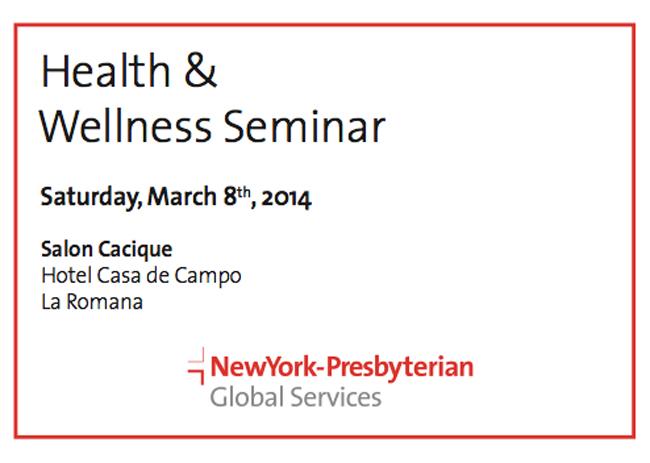 health and wellness seminar