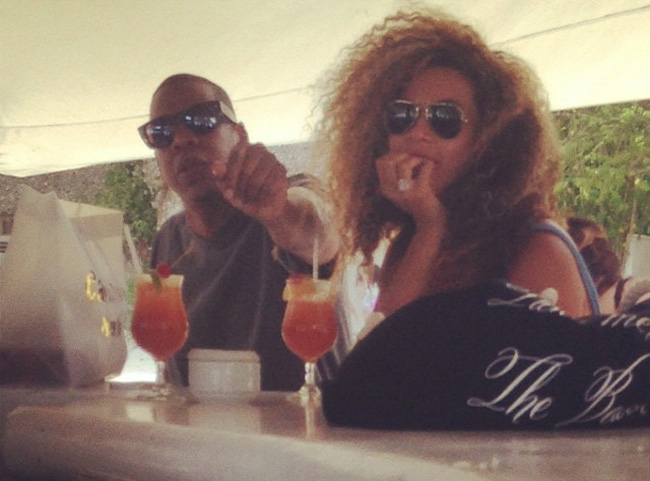 Jay Z and Beyonce at Minitas Beach