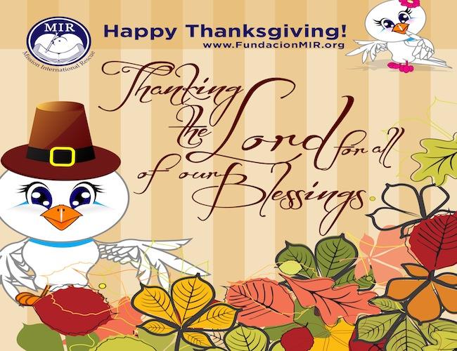 MIR Thanksgiving