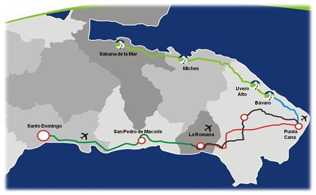 carretera Bavaro Miches Sabana de la Mar