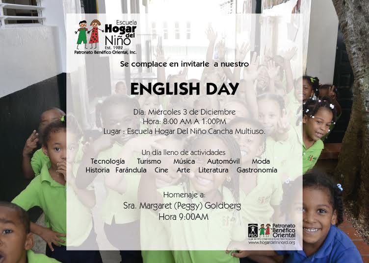 invitacion english day