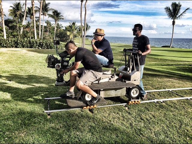 Jessy terrero filming Casa de Campo