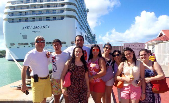 Ronny Duluc familia MSC Cruise SILGON