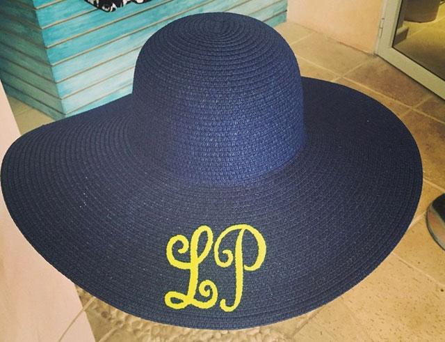 Bordatique wide-brimmed hat