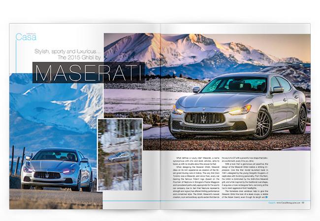 CasaLife Maserati spread