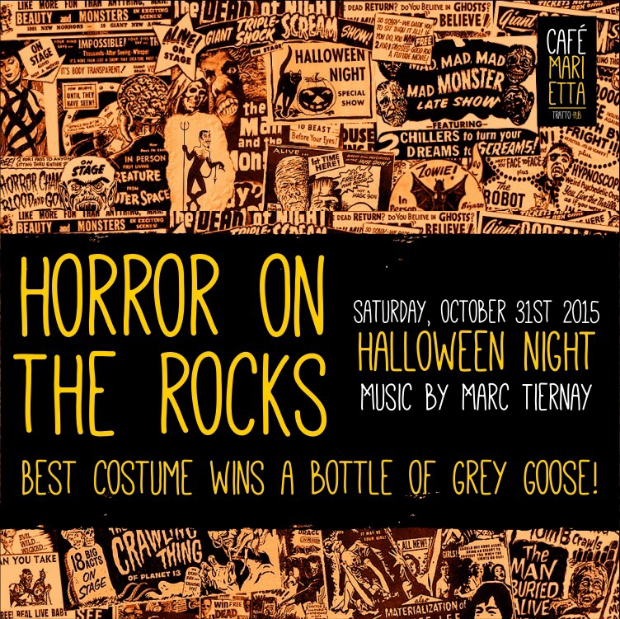 Horror on the Rocks at Café Marietta Flyer