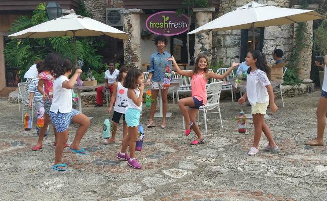Kids at Fresh Fresh recycling workshop