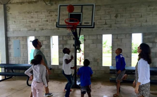 Basketball at Ninos de Cristo Orphange