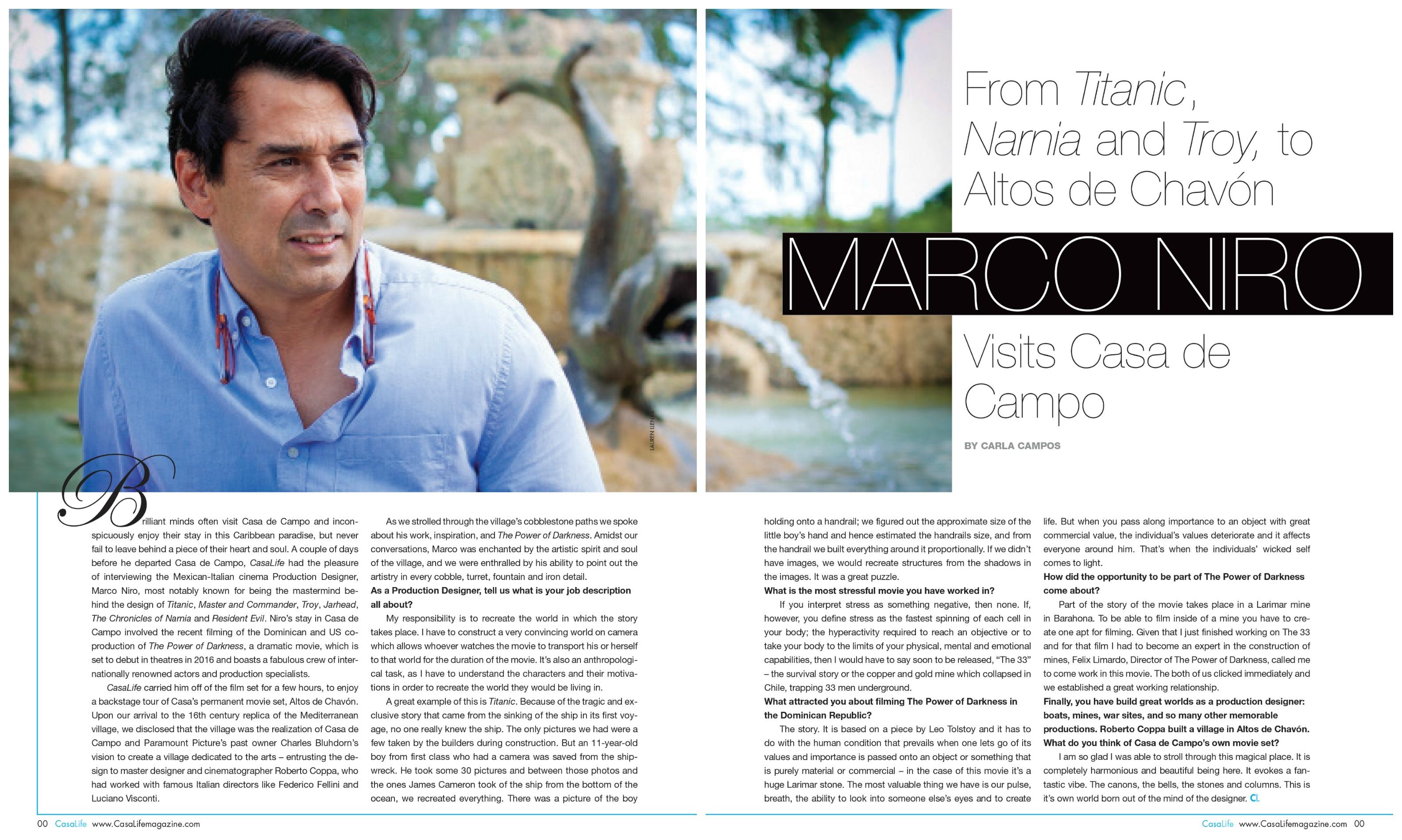 Marco Niro spread