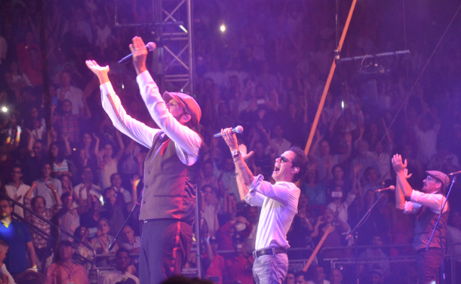 Juan Luis Guerra and Marc Anthony