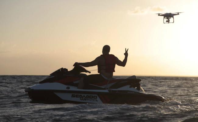 Vin Diesel Jet Skiing at Minitas Beach