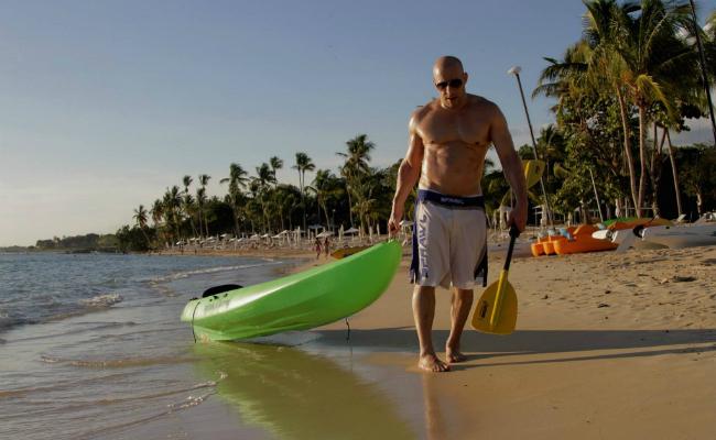 Vin Diesel at Minitas Beach