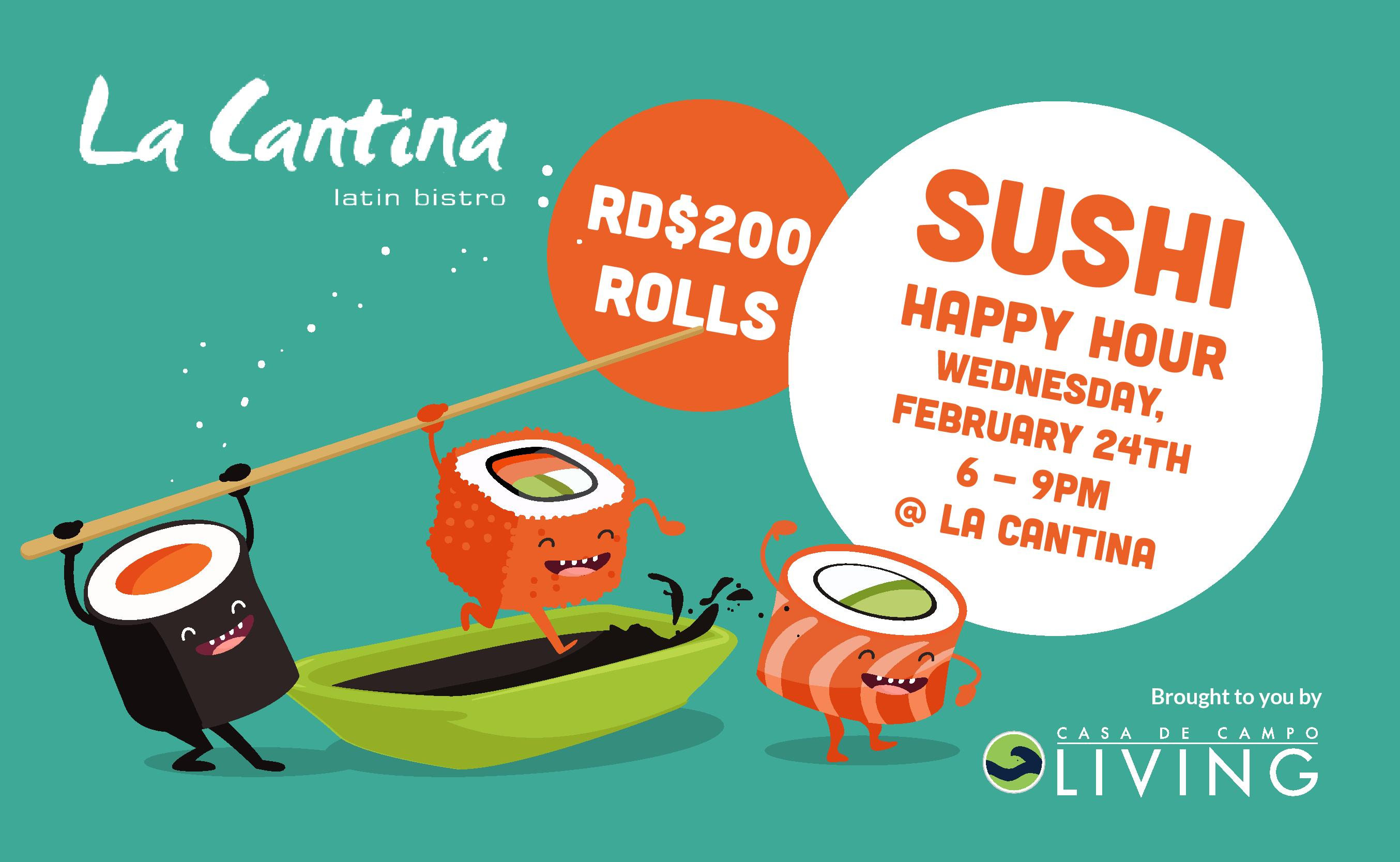 La Cantina Sushi Happy Hour