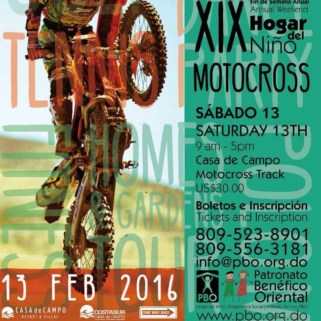Casa de Campo Motocross Track Inauguration Flyer