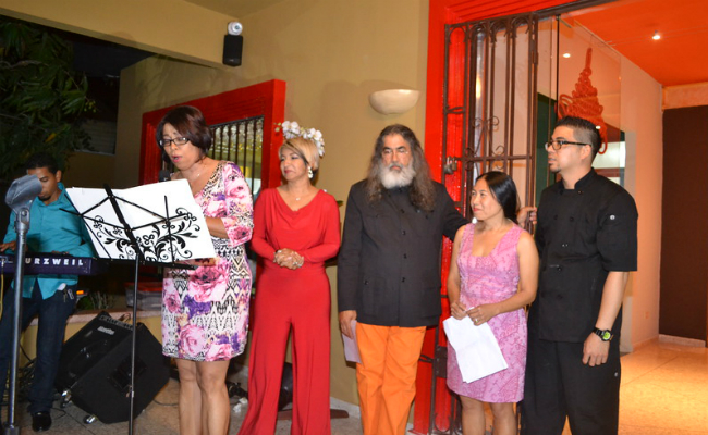 Dinora Rodriguez Singing - Chinois Re-Opening
