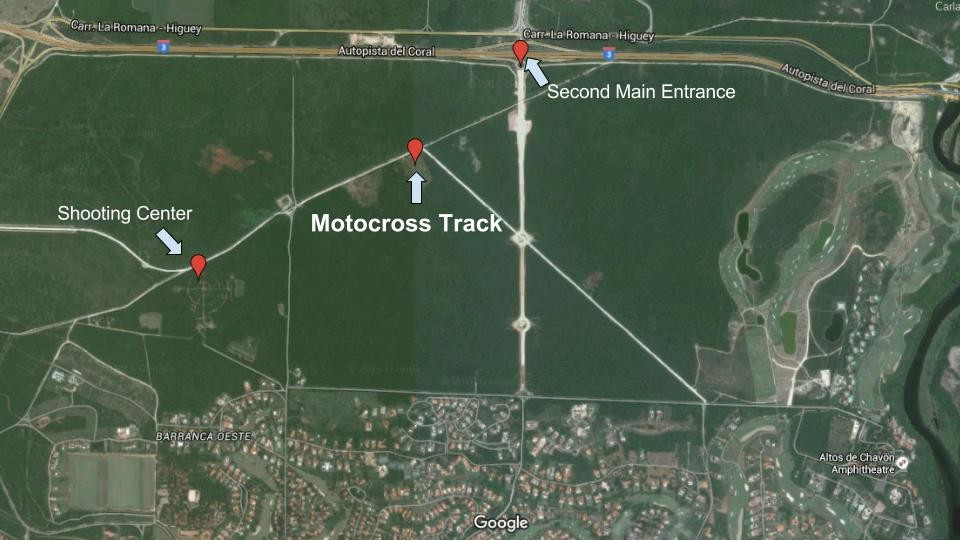 Map to the New Motocross Track