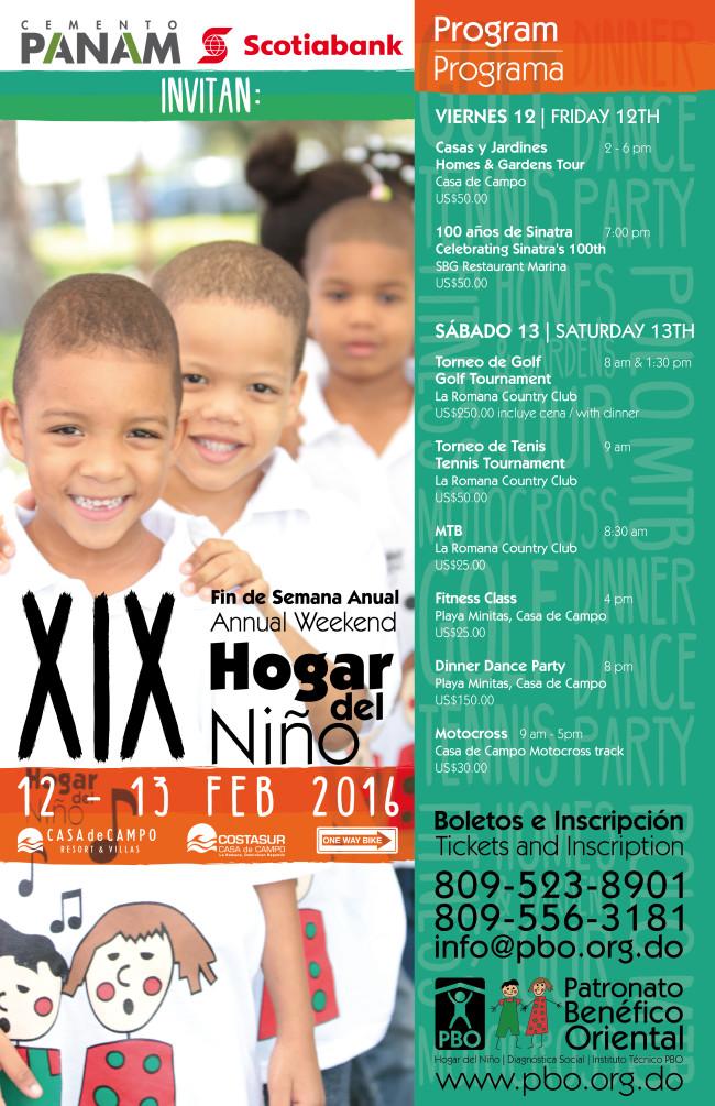 Hogar del Niño Program of Events