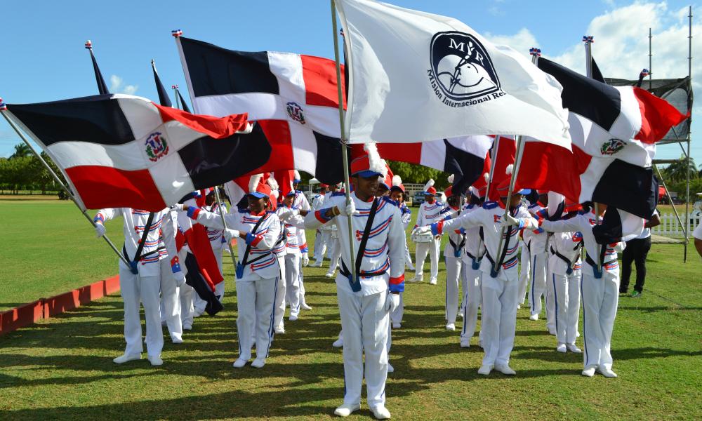 Dominican Flag — Semana Santa Polo Match