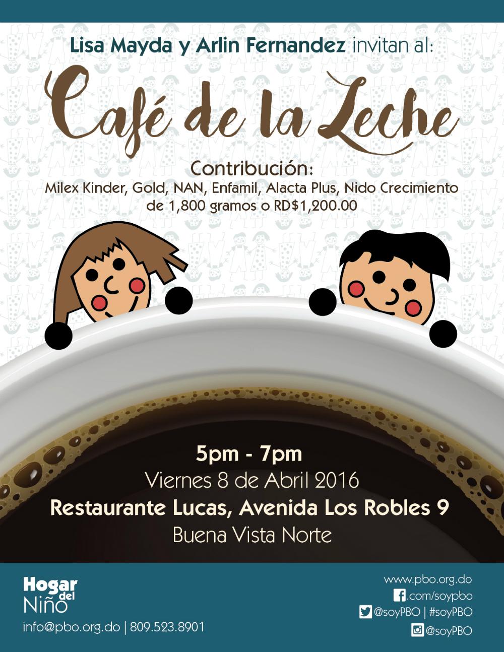 Flyer Café de la Leche April 2016