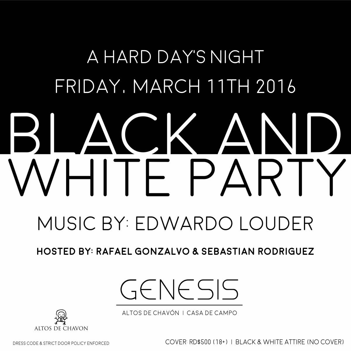 Genesis Black and White Party
