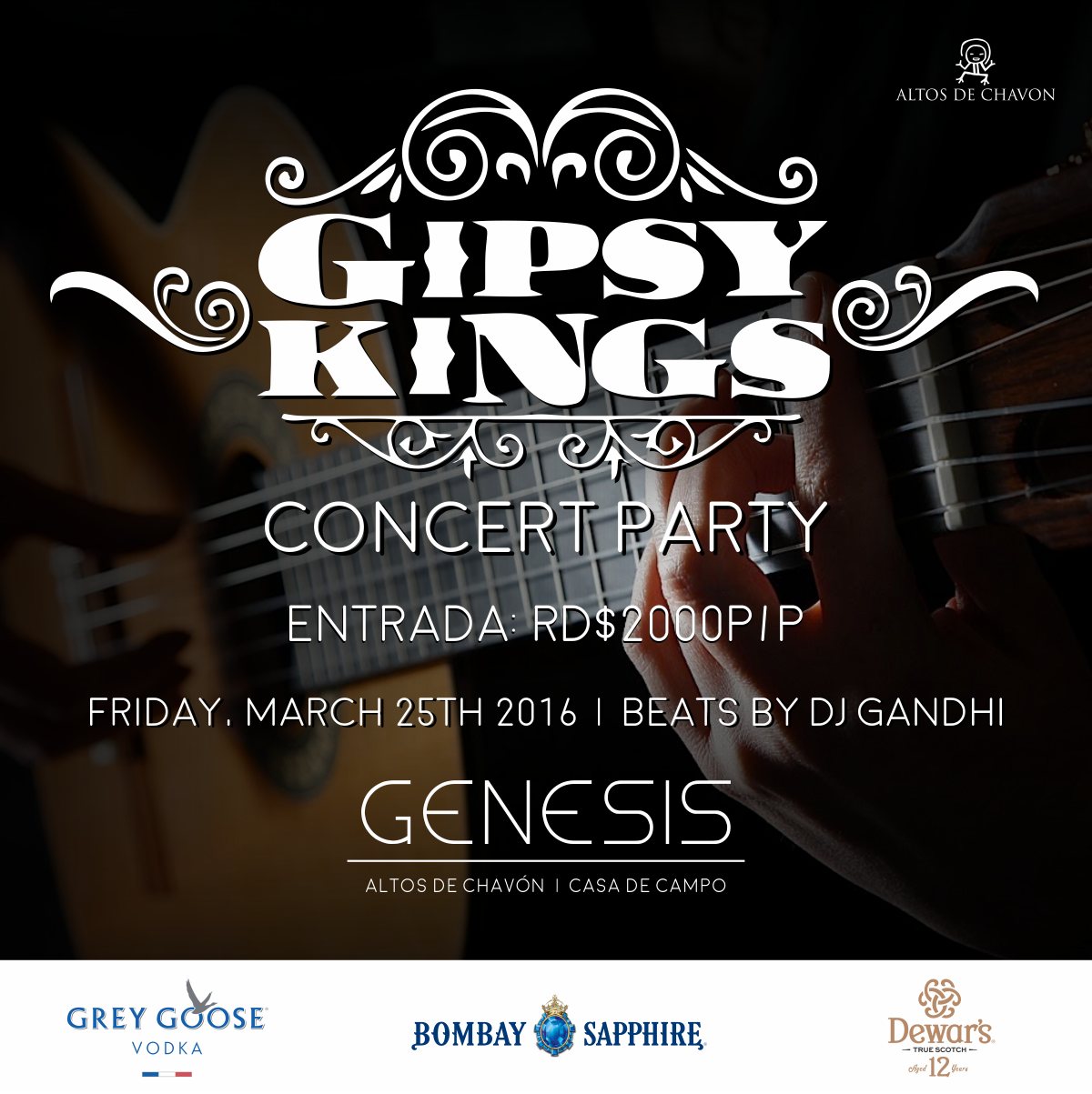 Gypsy Kings Flyer — Night Club