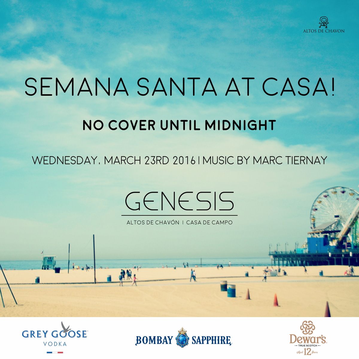 Semana Santa At Casa Flyer — Night Club