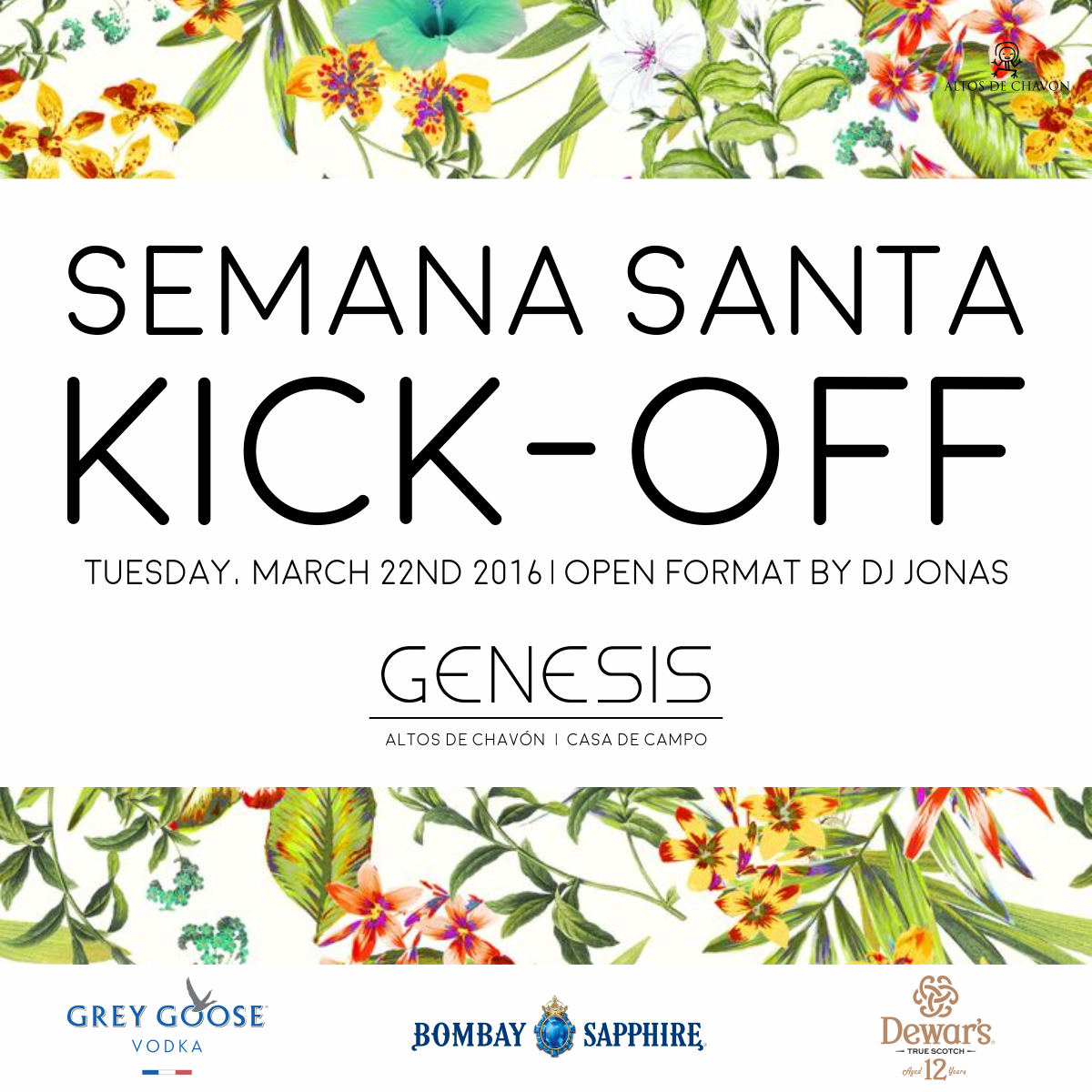 Semana Santa Kickoff Flyer — Night Club