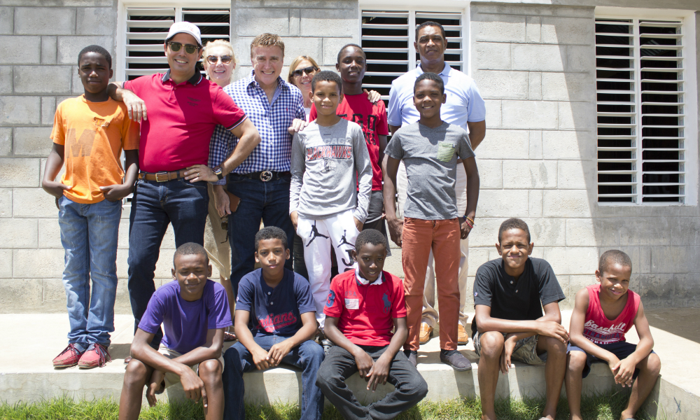 Ambassador James Brewster with the Children