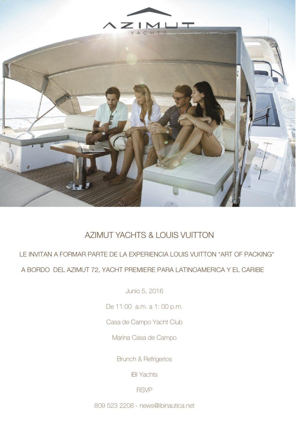 Azimut Yachts Invitation
