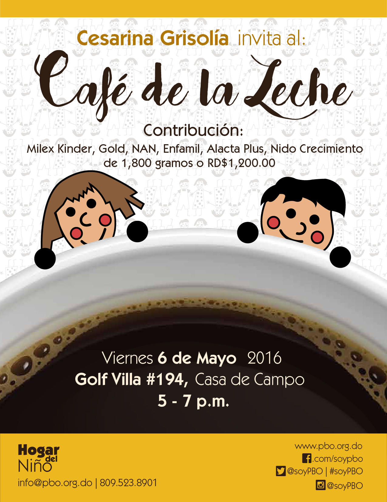Cafe de la Leche May 2016 Flyer